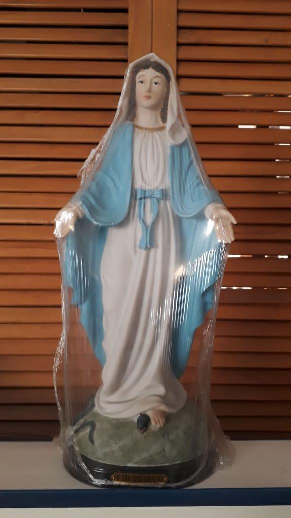 ID18 - Nossa Senhora das Graças 46cm Resina  - VindVedShop - Distribuidora Catolica