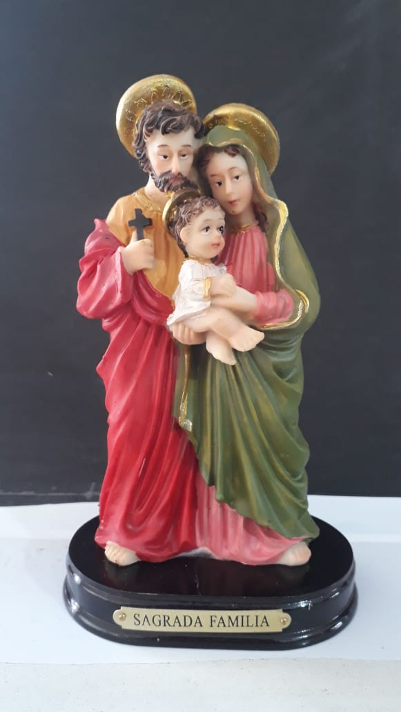 ID263 - Sagrada Familia 16cm VD Resina  - VindVedShop - Distribuidora Catolica