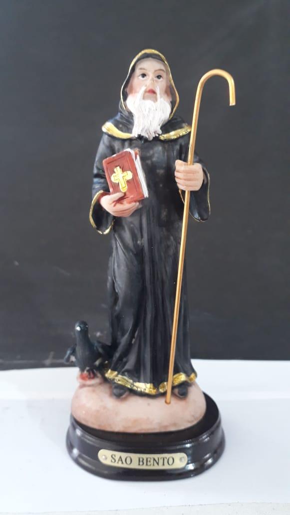ID342 - São Bento 14cm Resina  - VindVedShop - Distribuidora Catolica