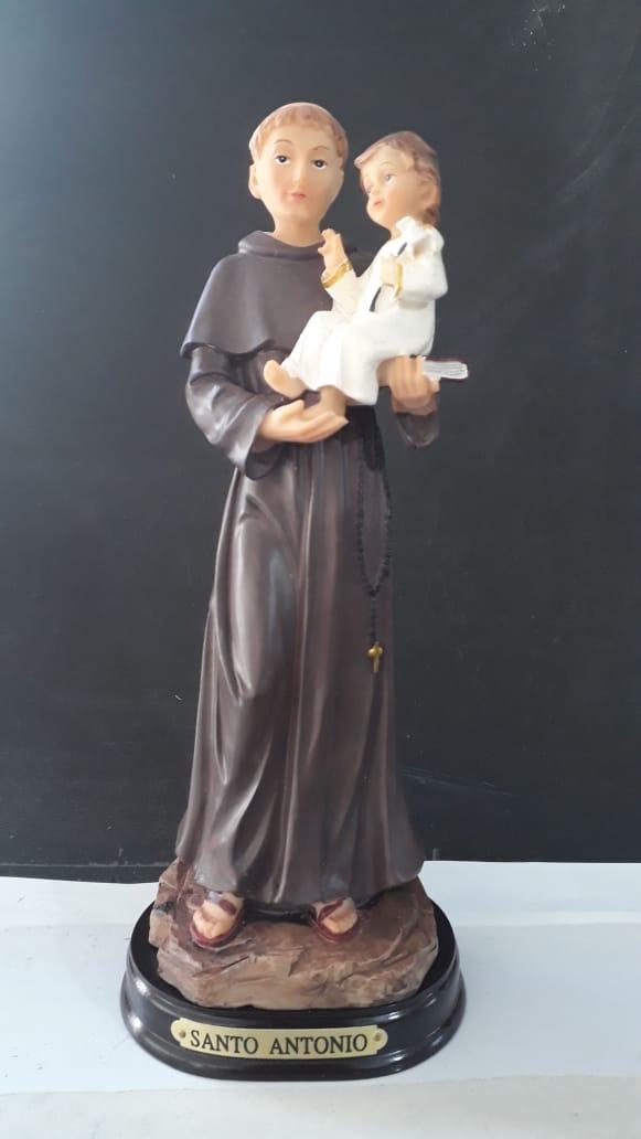 ID44 - Santo Antonio 20cm Resina  - VindVedShop - Distribuidora Catolica