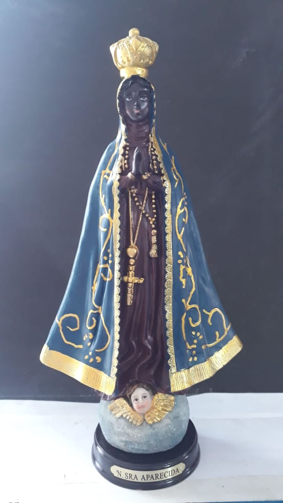 ID486 - Nossa Senhora Aparecida 29cm Resina  - VindVedShop - Distribuidora Catolica