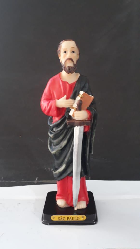 ID543 - São Paulo Apostolo 14cm Resina  - VindVedShop - Distribuidora Catolica