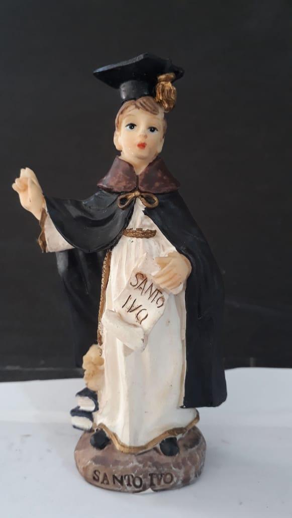 ID901 - Santo Ivo 11cm Resina  - VindVedShop - Distribuidora Catolica