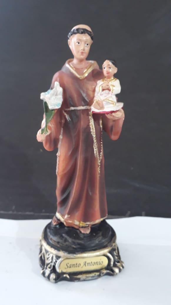 IDC42 - Santo Antonio 13cm Resina Gold  - VindVedShop - Distribuidora Catolica