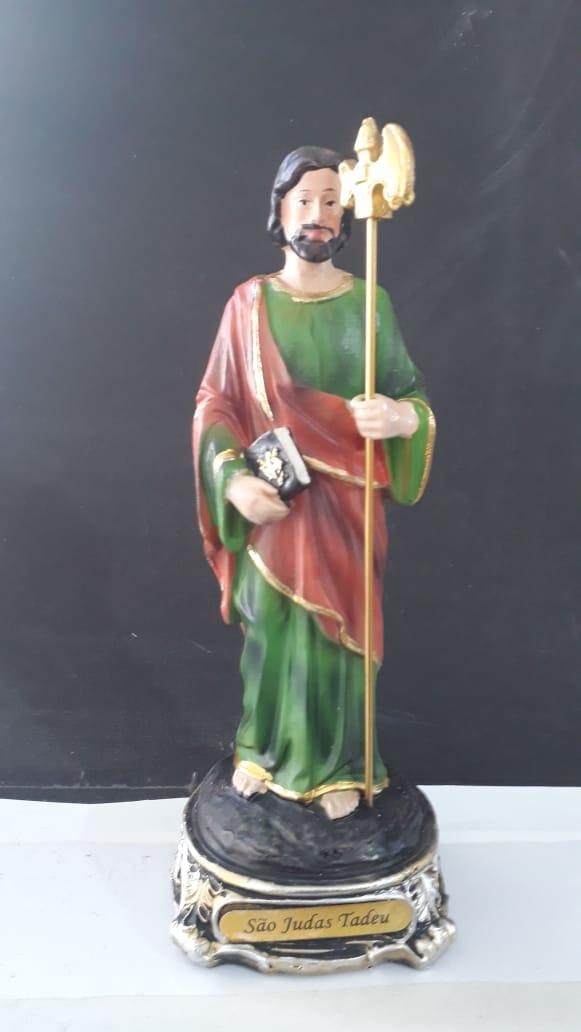 IDC464 - São Judas Tadeu 20cm Resina Gold  - VindVedShop - Distribuidora Catolica