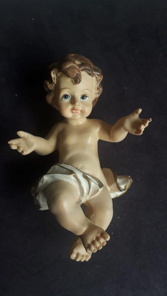IDN04 - Menino Jesus 15cm Resina  - VindVedShop - Distribuidora Catolica