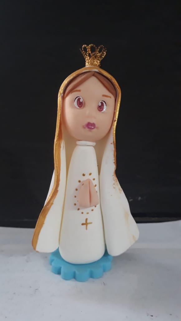 IG61 - Nossa Senhora Fatima 90mm Biscuit  - VindVedShop - Distribuidora Catolica
