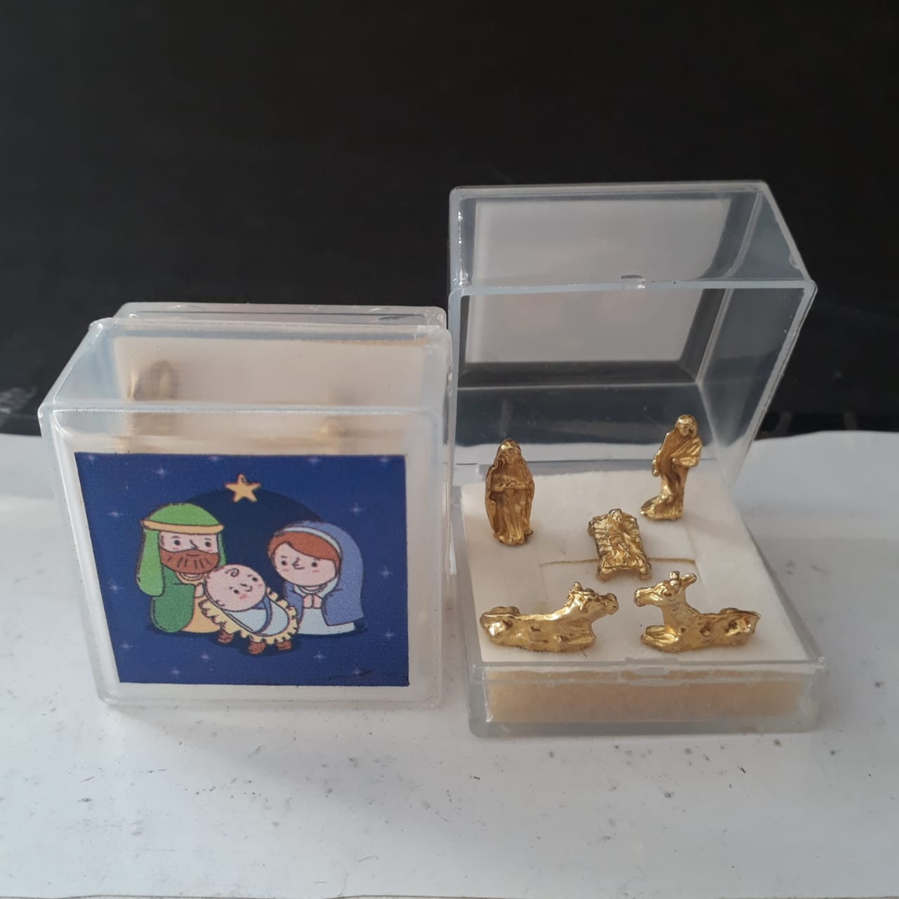 IN200 - Presepio Caixa Acrilico Cristal 4mm  - VindVedShop - Distribuidora Catolica