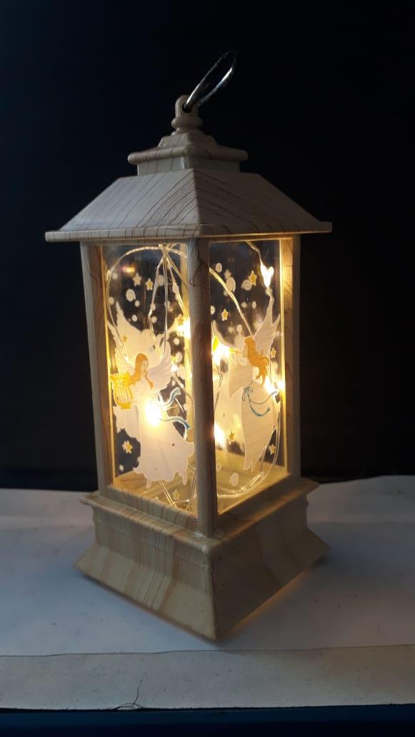 IN62 - Luminaria Anjo 13cm Marfim c/ Luz  - VindVedShop - Distribuidora Catolica