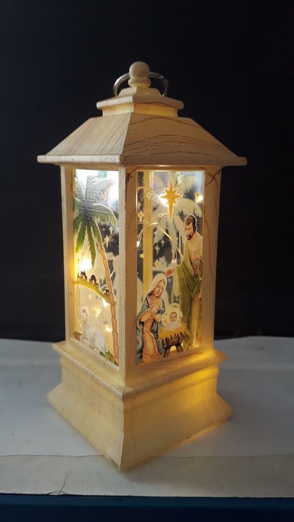 IN63 - Presépio Luminária 13cm Marfim c/ Luz  - VindVedShop - Distribuidora Catolica
