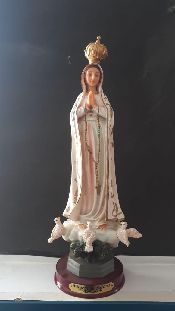 IP66 - Nossa Senhora Fatima 30cm Resina  - VindVedShop - Distribuidora Catolica