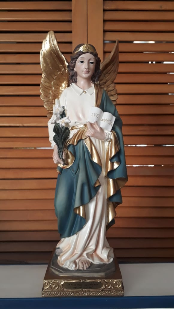 IS148 - São Gabriel Arcanjo 40cm Florence Resina  - VindVedShop - Distribuidora Catolica