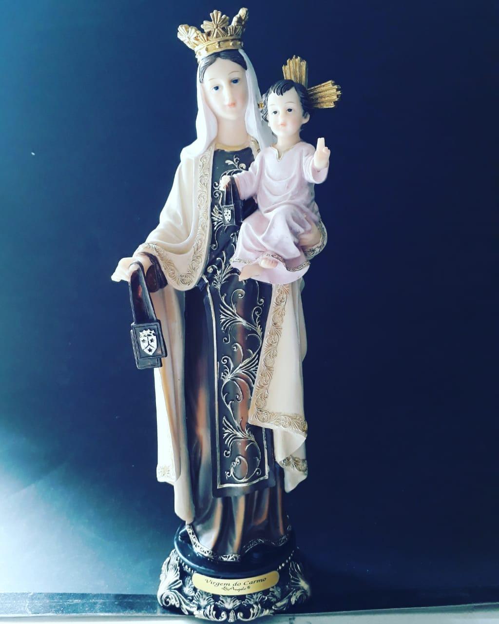 IS33026 - Nossa Senhora do Carmo 30cm Angelus Resina  - VindVedShop - Distribuidora Catolica