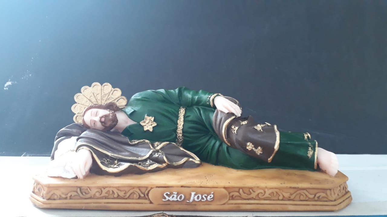 IT1044 - São José Dormindo 20cm Resina  - VindVedShop - Distribuidora Catolica