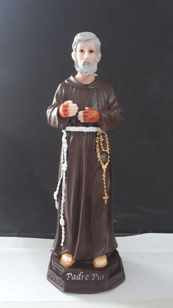 IT1084 - São Padre Pio 20cm Resina  - VindVedShop - Distribuidora Catolica