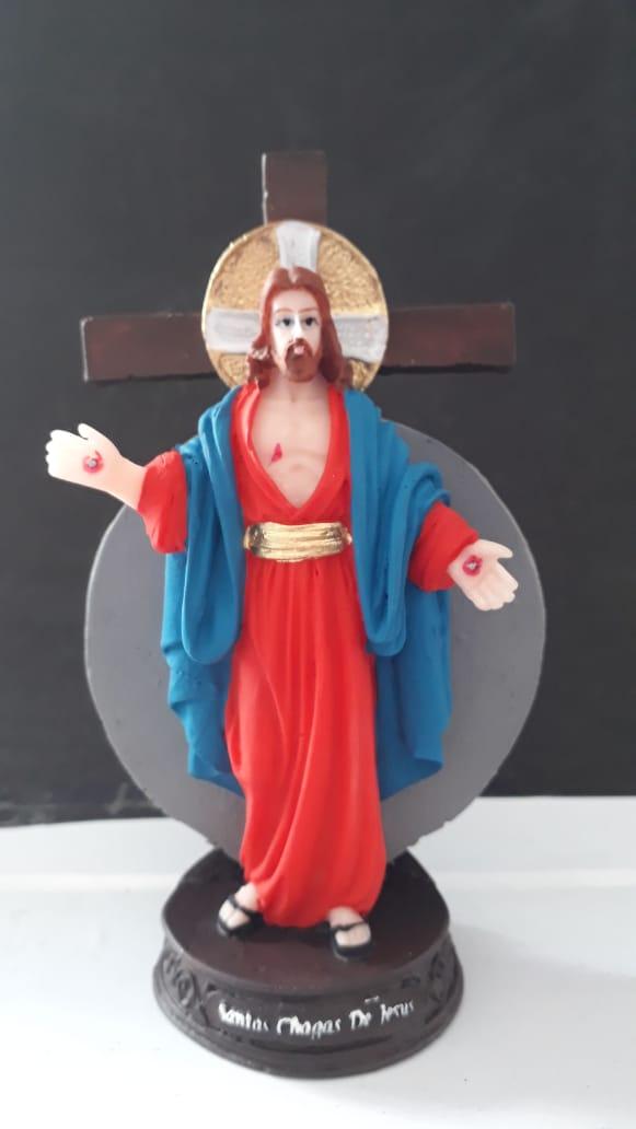 IT1113 - Santas Chagas de Jesus 15cm Resina  - VindVedShop - Distribuidora Catolica