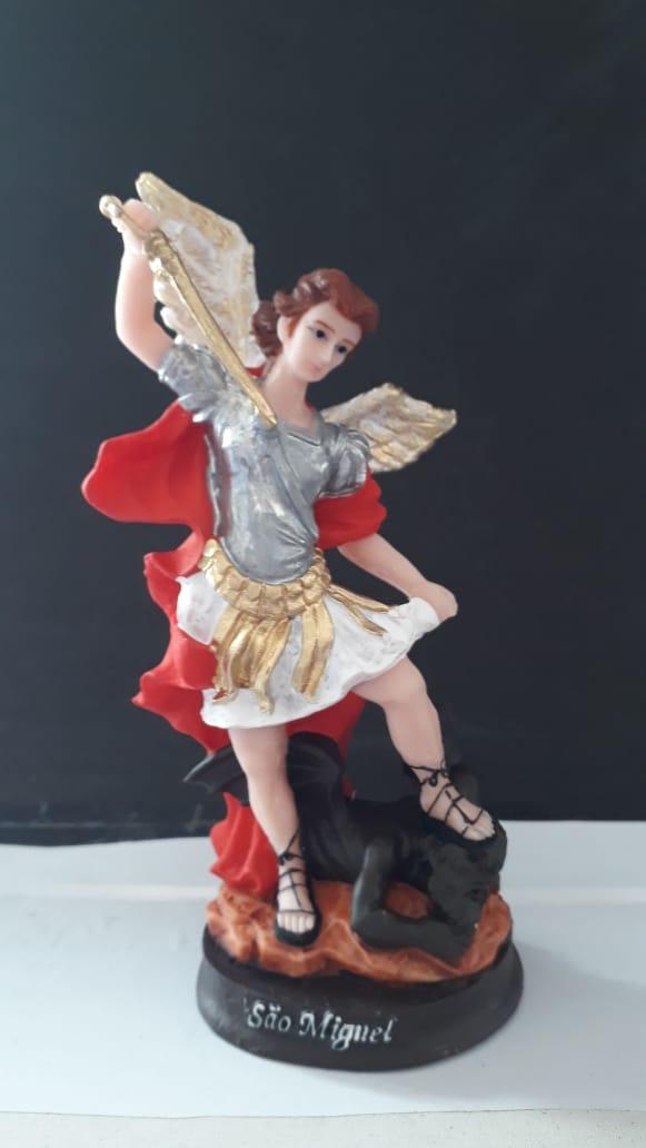 IT123 - São Miguel Arcanjo 15cm Resina  - VindVedShop - Distribuidora Catolica