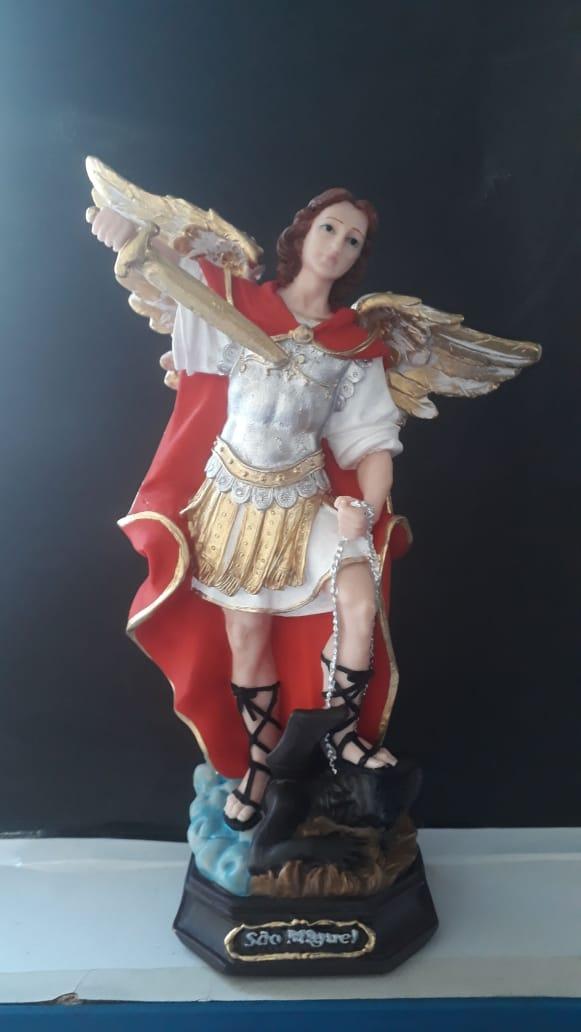 IT126 - São Miguel Arcanjo 30cm Resina  - VindVedShop - Distribuidora Catolica