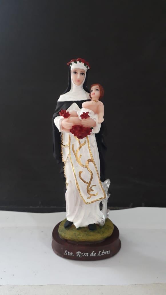 IT362 - Santa Rosa de Lima 14cm Resina  - VindVedShop - Distribuidora Catolica