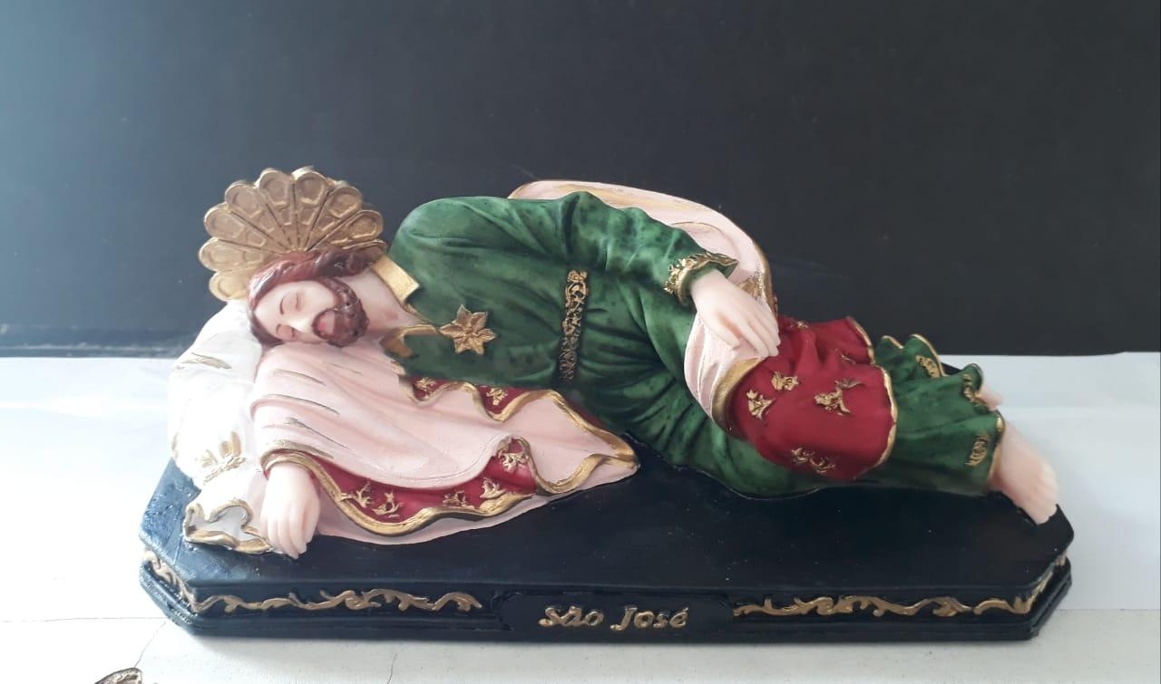 IV1044 - São José Dormindo 20cm Resina  - VindVedShop - Distribuidora Catolica