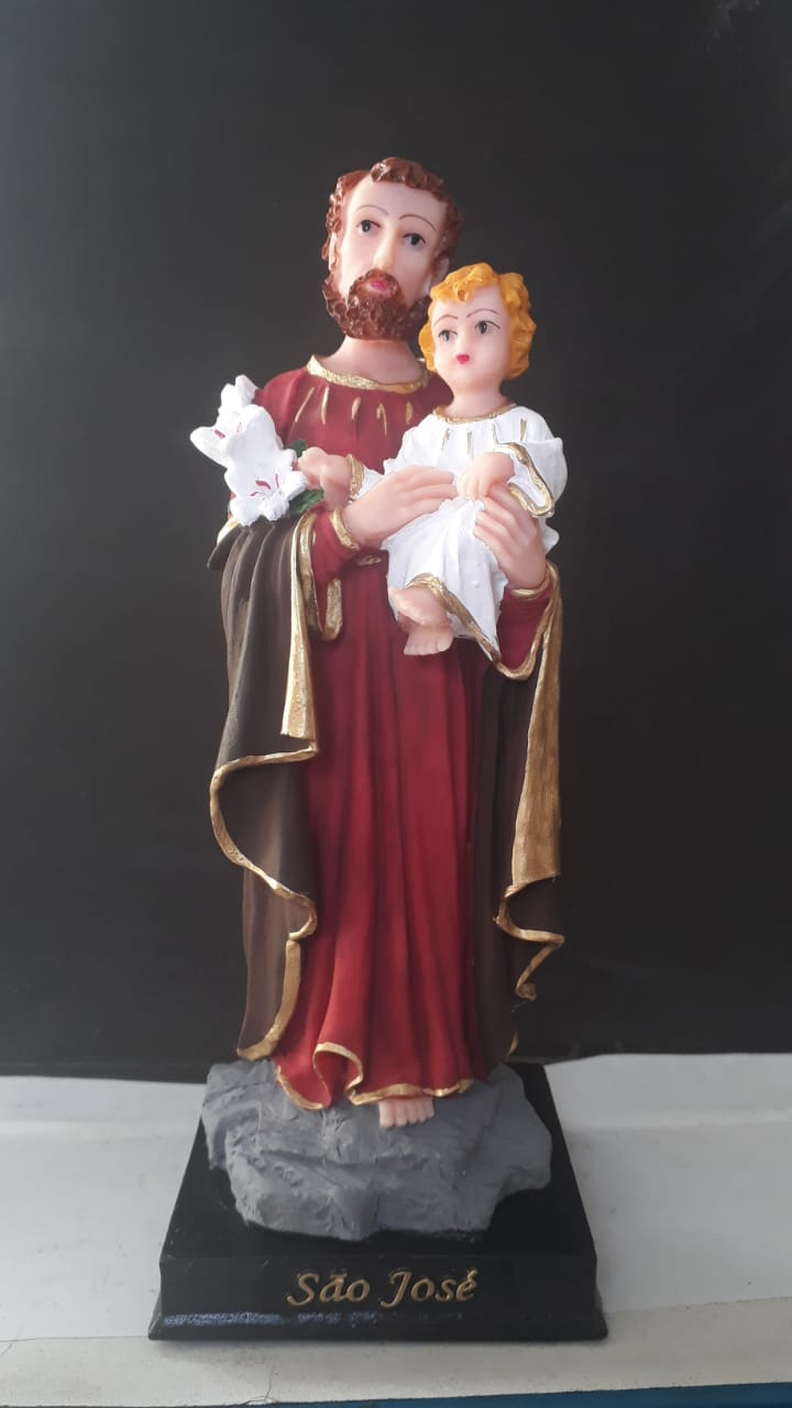 IV114 - São José 20cm Resina  - VindVedShop - Distribuidora Catolica