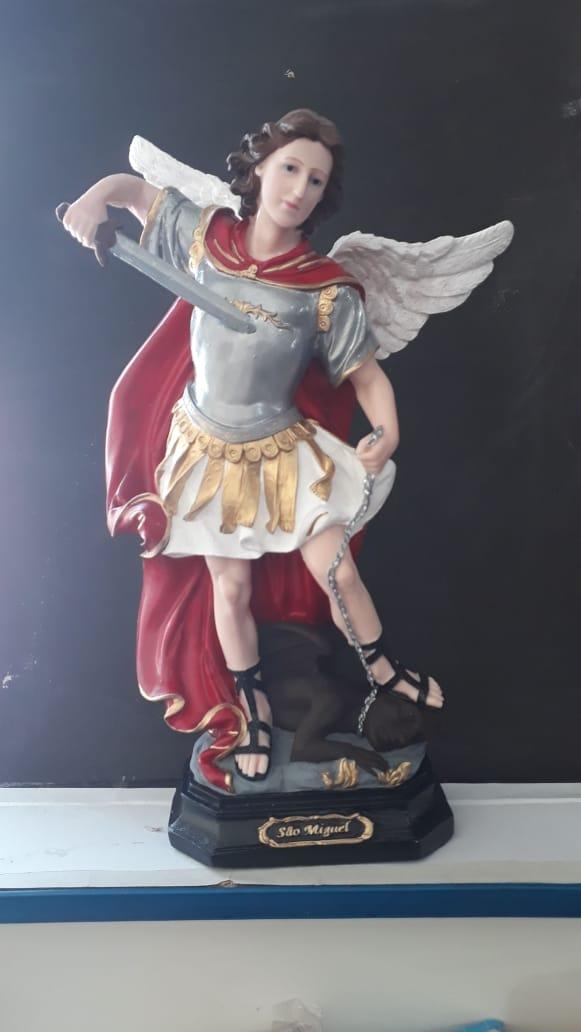 IV128 - São Miguel Arcanjo 40cm Resina  - VindVedShop - Distribuidora Catolica