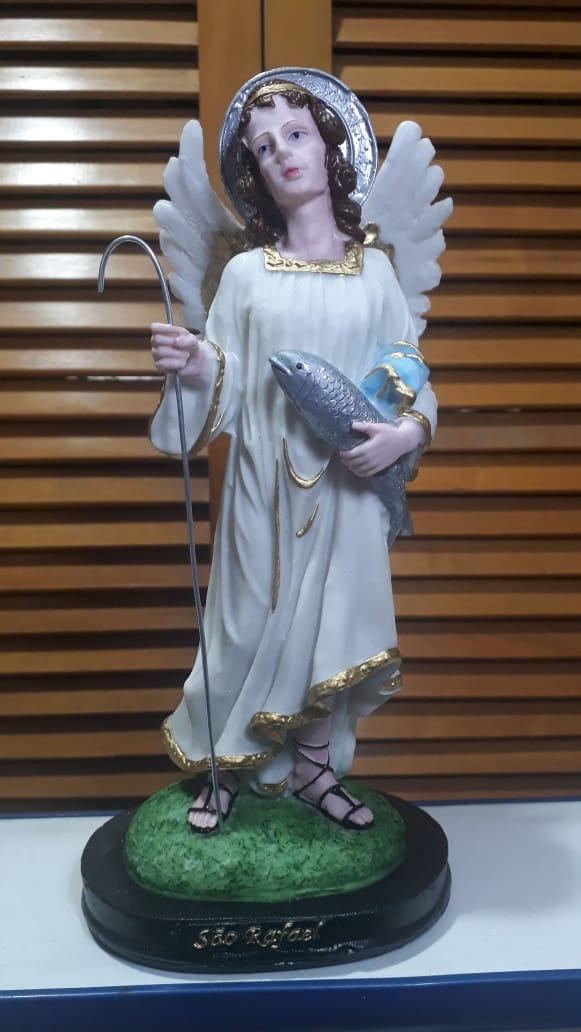 IV136 - São Rafael Arcanjo 30cm Resina  - VindVedShop - Distribuidora Catolica