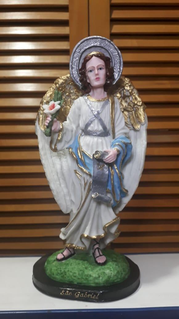 IV146 - São Gabriel Arcanjo 30cm Resina  - VindVedShop - Distribuidora Catolica