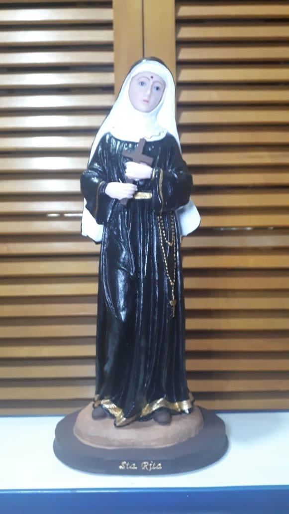 IV156 - Santa Rita de Cassia 30cm Resina  - VindVedShop - Distribuidora Catolica
