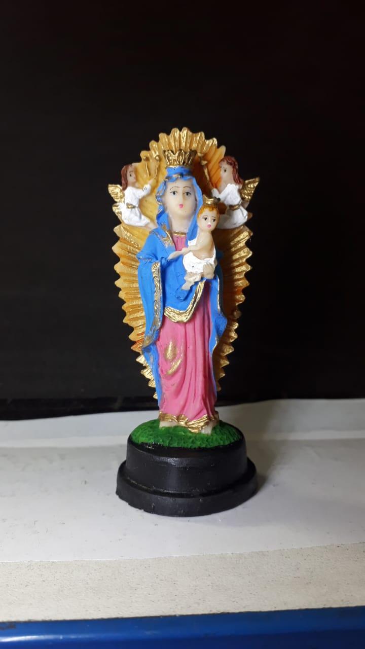 IV190 - Nossa Senhora do Perpetuo Socorro 08cm Resina  - VindVedShop - Distribuidora Catolica