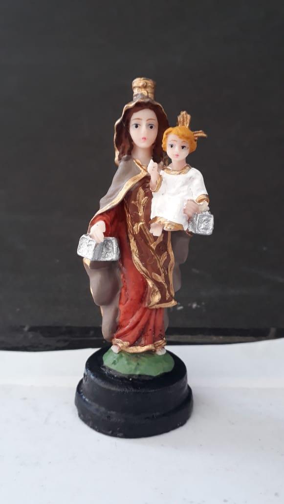IV230 - Nossa Senhora Carmo 08cm Resina  - VindVedShop - Distribuidora Catolica