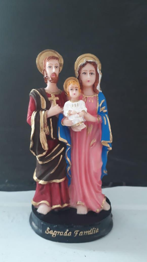 IV262 - Sagrada Familia 11cm Resina  - VindVedShop - Distribuidora Catolica