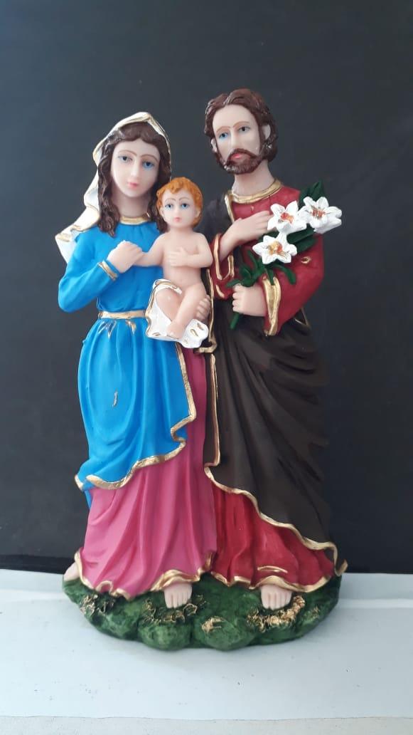IV264 - Sagrada Familia 20cm Resina  - VindVedShop - Distribuidora Catolica