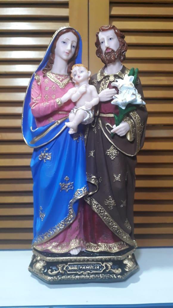 IV266 - Sagrada Familia 30cm Resina  - VindVedShop - Distribuidora Catolica