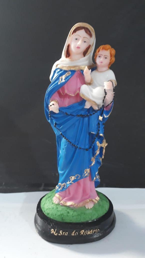 IV293 - Nossa Senhora do Rosario 15cm Resina  - VindVedShop - Distribuidora Catolica