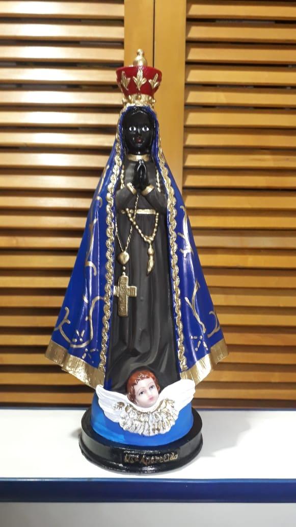 IV486 - Nossa Senhora Aparecida 30cm Resina  - VindVedShop - Distribuidora Catolica