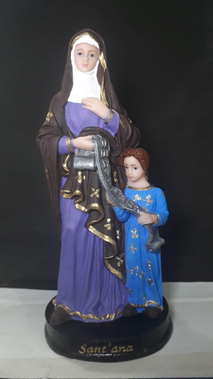 IV504 - Santa Ana 20cm Resina  - VindVedShop - Distribuidora Catolica