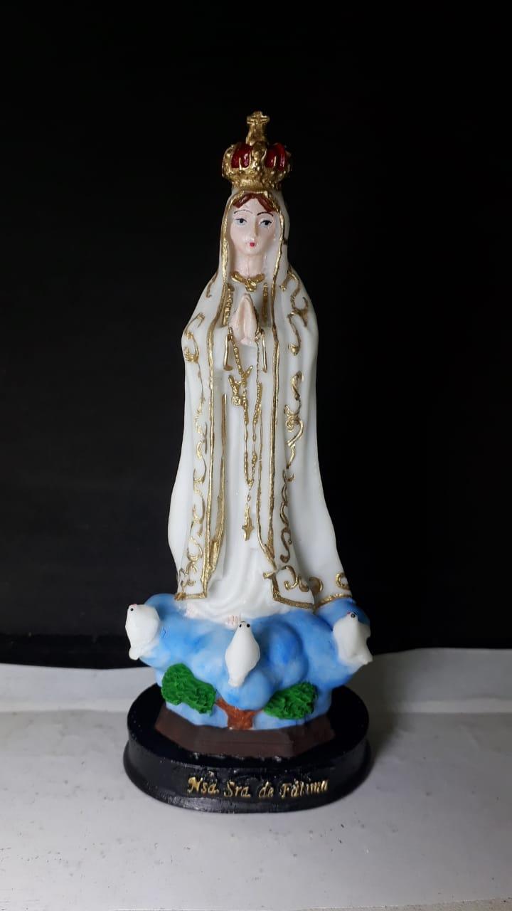IV63 - Nossa Senhora Fatima 15cm Resina  - VindVedShop - Distribuidora Catolica