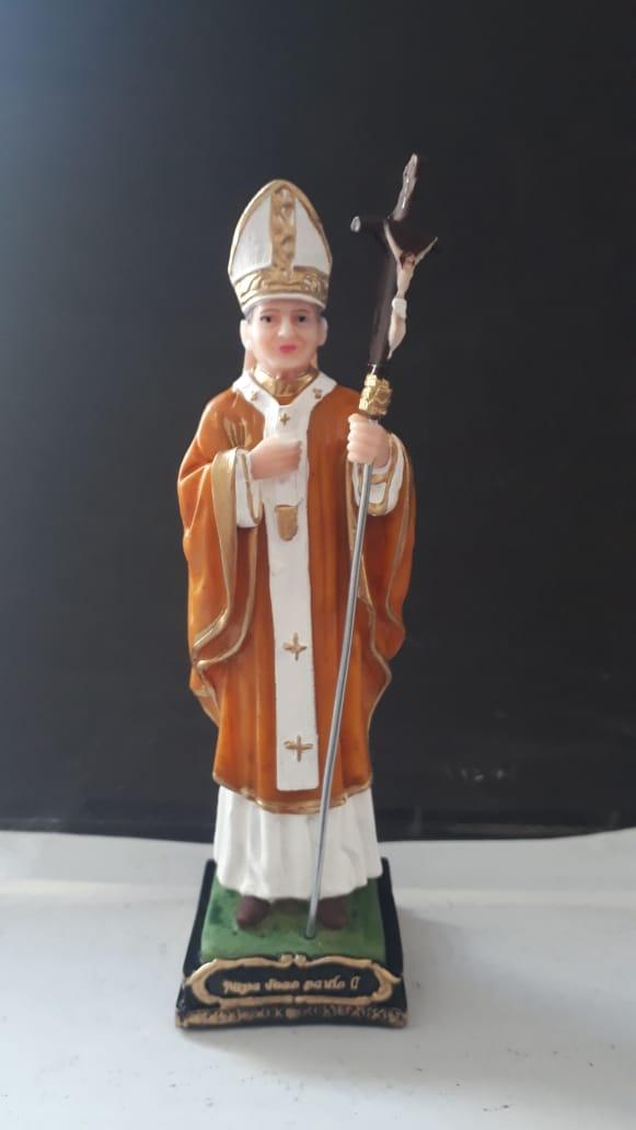 IV773 - São João Paulo II 15cm Resina  - VindVedShop - Distribuidora Catolica