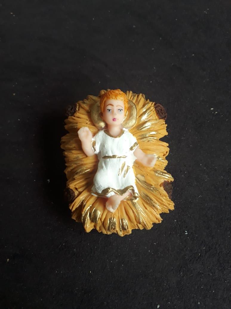 IVN01 - Menino Jesus na Manjedoura 67mm  - VindVedShop - Distribuidora Catolica