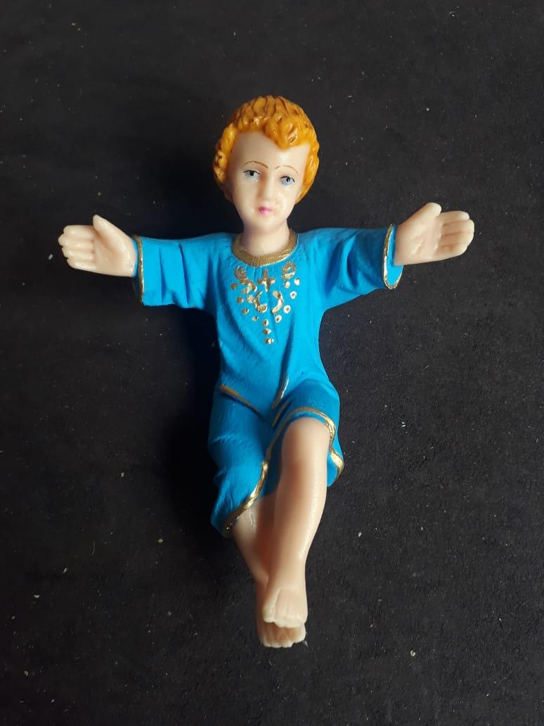 IVN03 - Menino Jesus na Manjedoura 15cm  - VindVedShop - Distribuidora Catolica