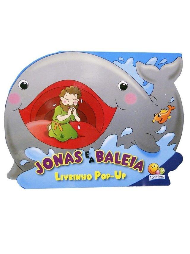 Jonas e a Baleia - Livrinho Pop-Up  - VindVedShop - Distribuidora Catolica