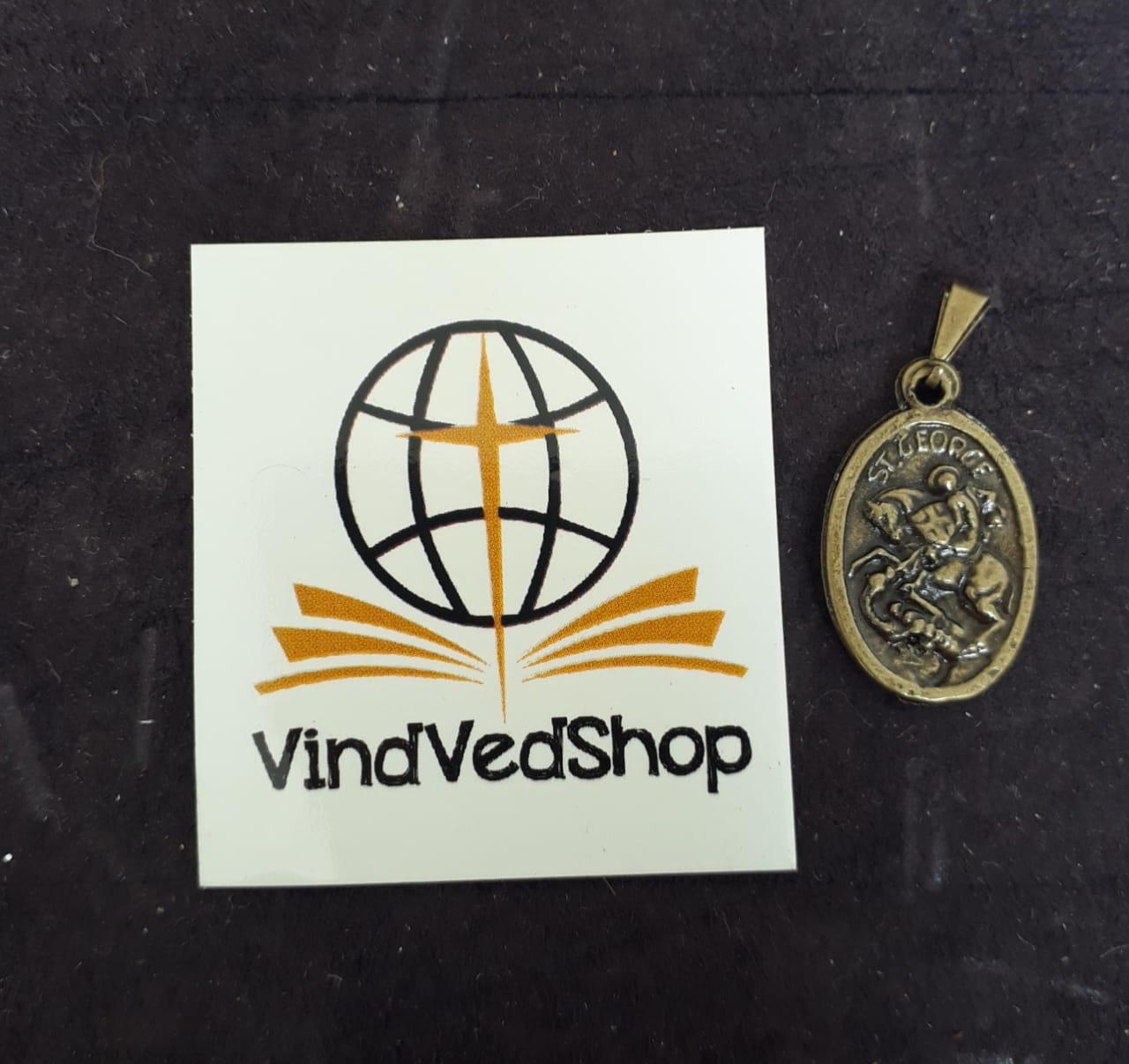 M31 - Medalha São Jorge 20mm Ouro Velho  - VindVedShop - Distribuidora Catolica