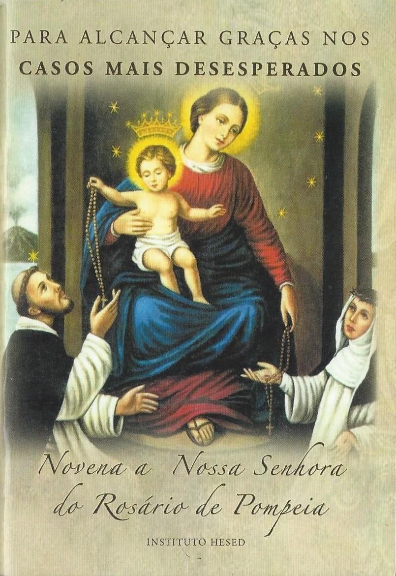 Novena a Nossa Senhora do Rosario de Pompeia  - VindVedShop - Distribuidora Catolica