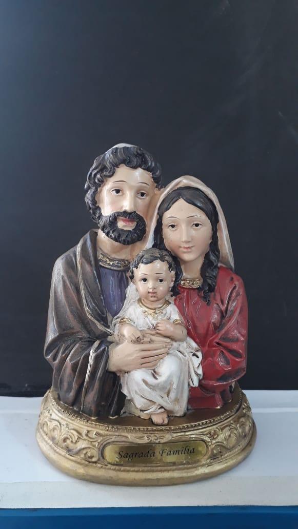 P108 - Sagrada Familia Busto 20cm Resina  - VindVedShop - Distribuidora Catolica