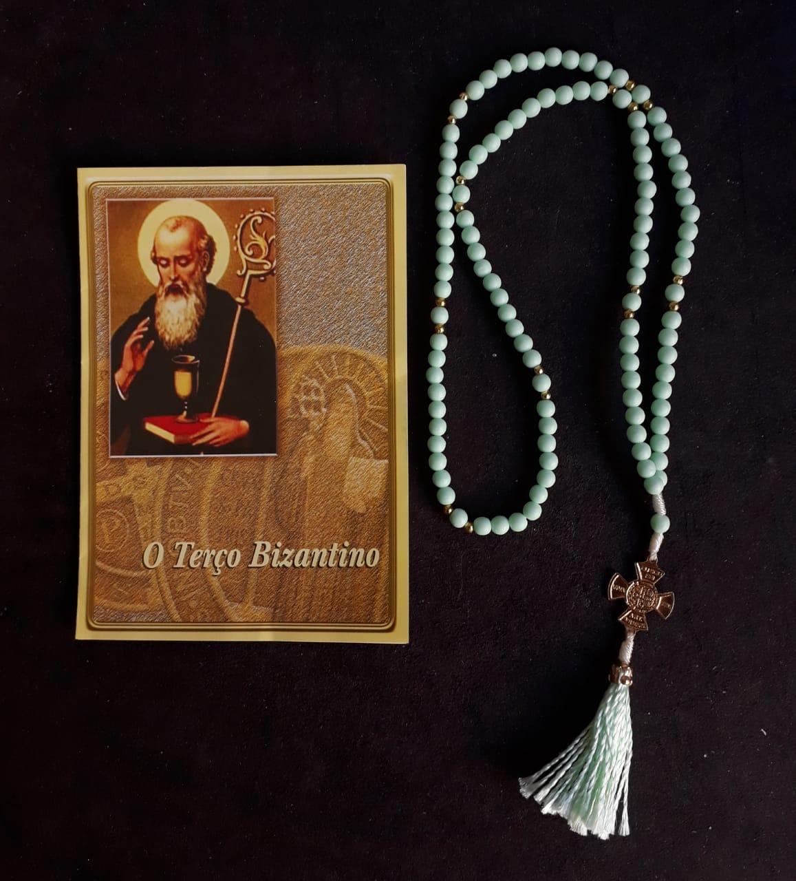 TR13 - O Terço Bizantino Plastico 5mm c/ Oração  - VindVedShop - Distribuidora Catolica