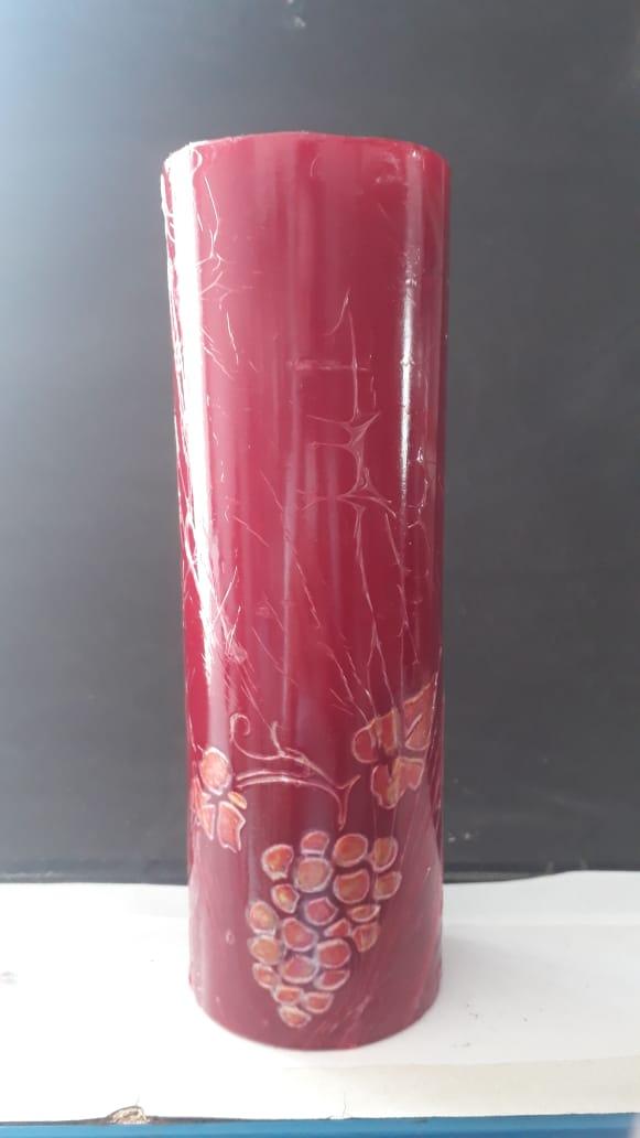 VL03 - Vela Altar Vermelha Uva 70mmX200mm  - VindVedShop - Distribuidora Catolica