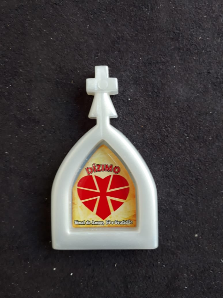 WE180 - Imã Geladeira Capela Perola 60mm Dizimo  - VindVedShop - Distribuidora Catolica