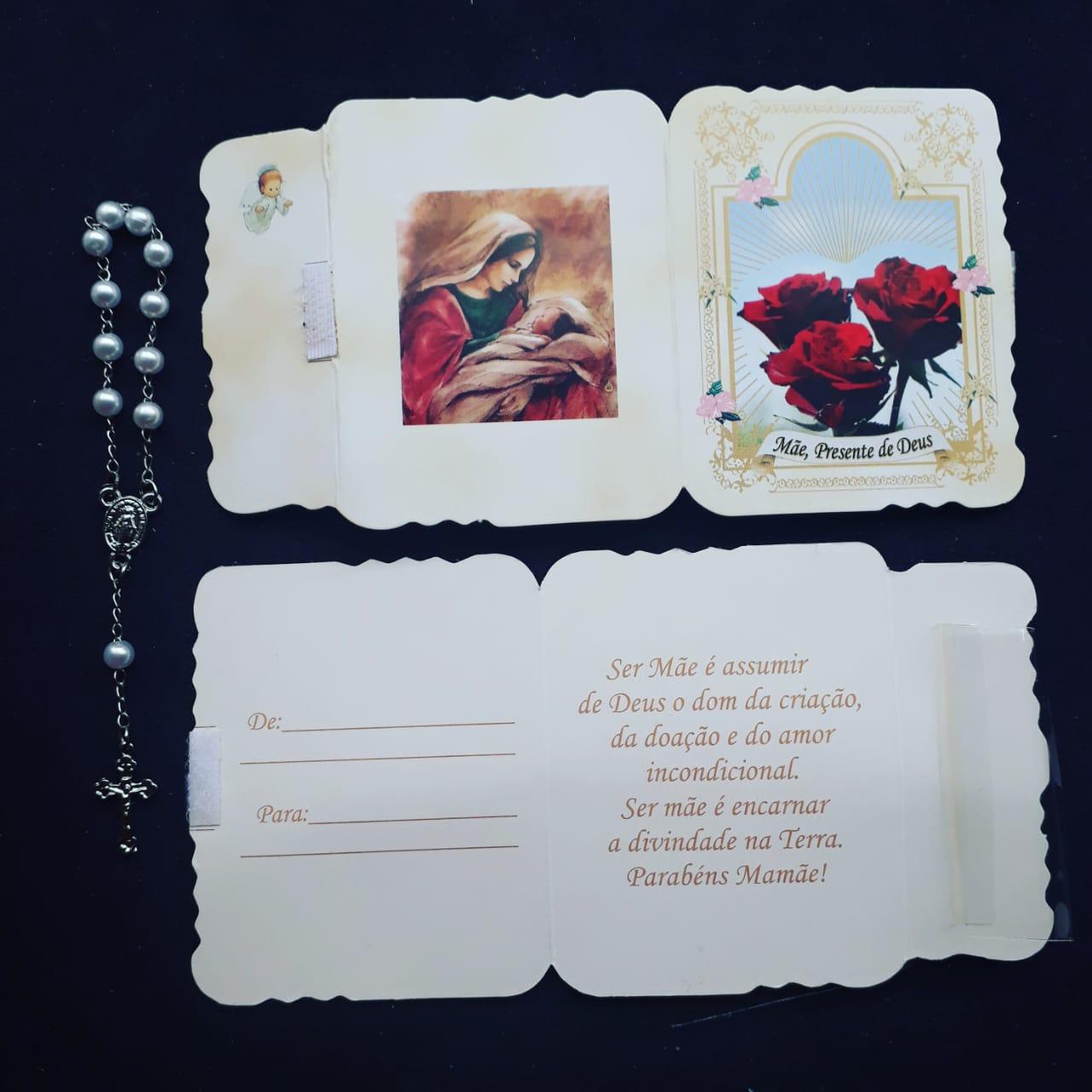 WE20 - Lembrança Dia das Mães c/ Dezena Perolada  - VindVedShop - Distribuidora Catolica