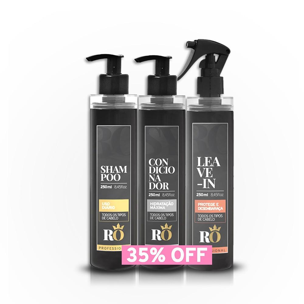 BLACK FRIDAY - Combo Shampoo + Condicionador + Leave-in RO